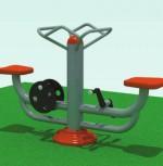 Парный тренажер-велосипед