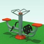 двойной тренажер-велосипед для занятия 2-х человек